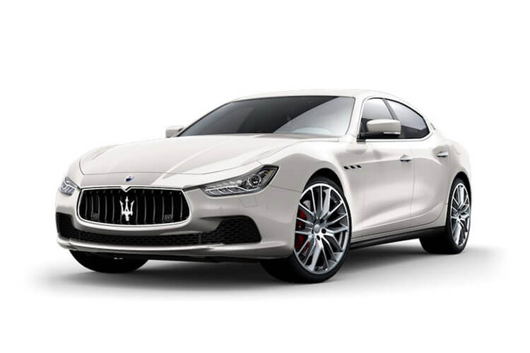 Maserati Ghibli Saloon 3.0 V6 350PS GranSport 4Dr ZF [Start Stop] [Nerissimo Carbon] front view