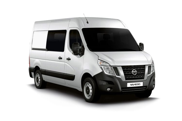Nissan NV400 L3 35 FWD 2.3 dCi FWD 150PS Acenta Crew Van Medium Roof Auto [Start Stop] front view