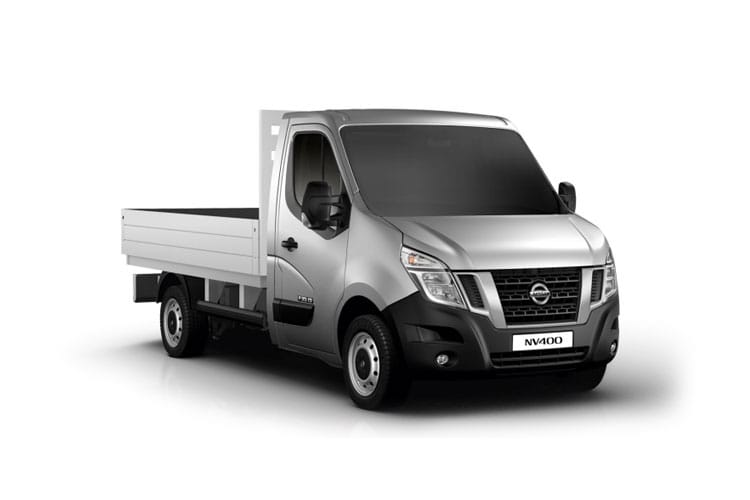Nissan NV400 L2 35 FWD 2.3 dCi FWD 135PS Acenta Dropside Manual front view