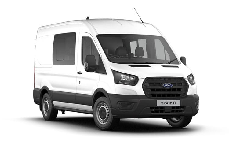Ford Transit 350 L3 AWD 2.0 EcoBlue 4WD 130PS Leader Crew Van High Roof Manual [Start Stop] [DCiV] front view
